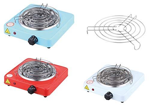 MAXELL POWER Cocina ELECTRICA para Shisha con Grill CACHIMBA Carbon HORNILLO 1000W Colores (Blanco)