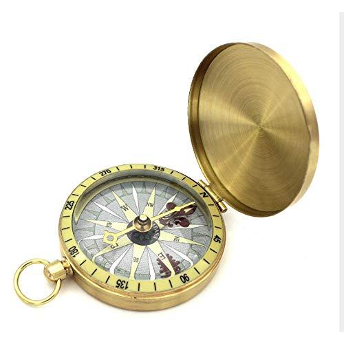 HCFSUK Brújula, brújula de Senderismo de Aventura al Aire Libre, brújula de Coche, botón Colgante, Reloj de Bolsillo portátil Impermeable, navegación con brújula