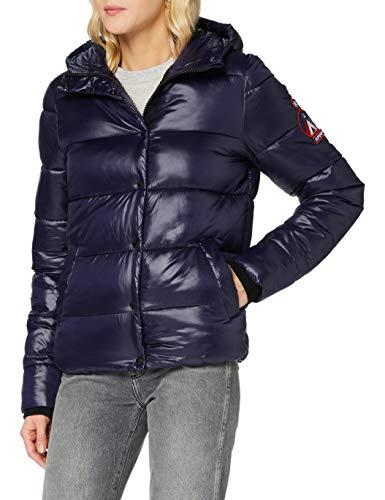 Superdry Womens HIGH Shine Toya Jacket, Nautical Navy, S (Herstellergröße:10)