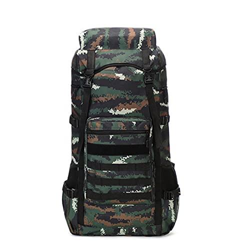 TH&Meoostny 70L Herren Militärrucksack Camping Tasche Reise Bergsteigen Wandern Sporttasche Taktischer Rucksack Armee Taschen Banhu Camo