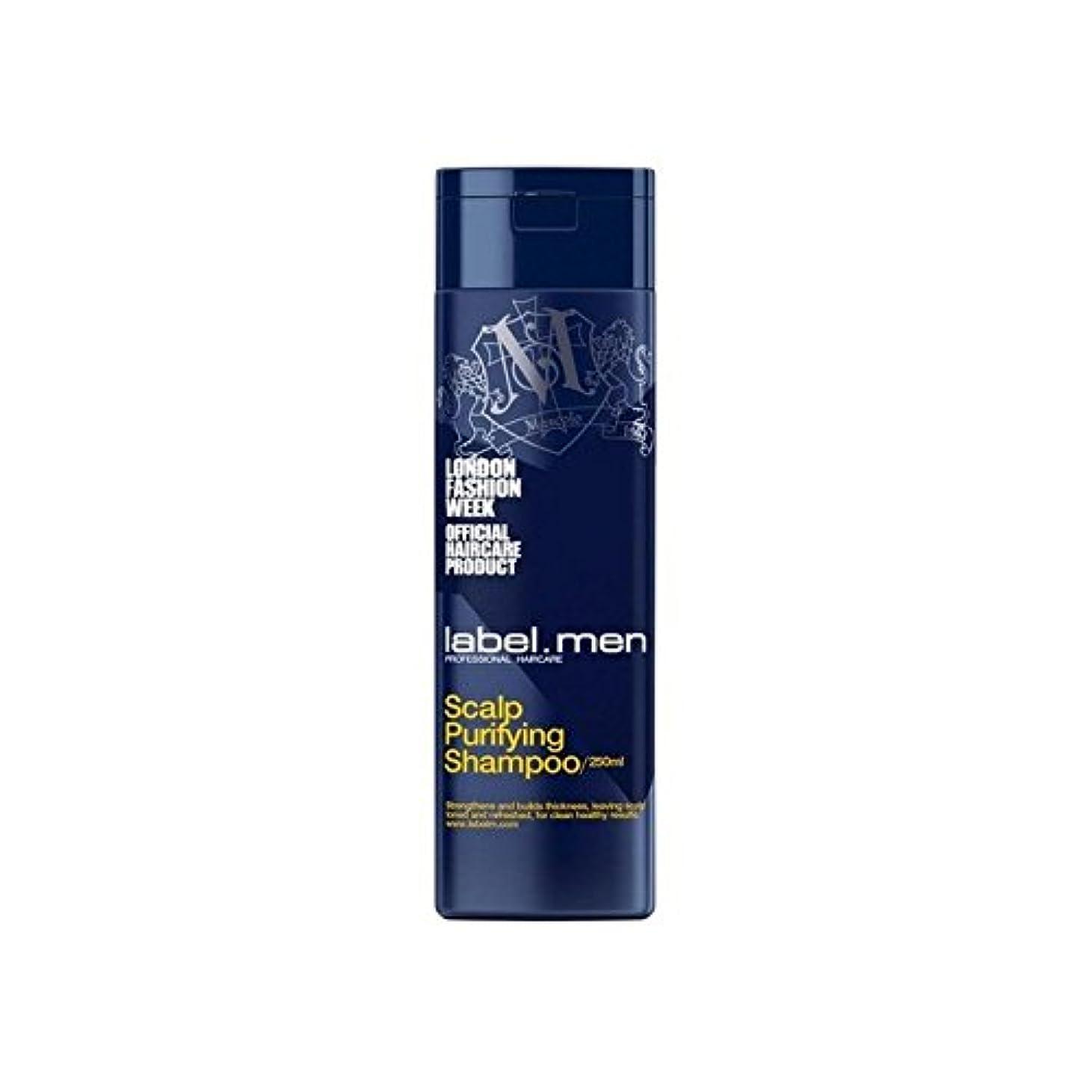 真っ逆さまうまれた視聴者Label.Men Scalp Purifying Shampoo (250ml) - .頭皮浄化シャンプー(250ミリリットル) [並行輸入品]