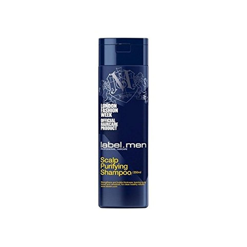 警戒伝統アテンダント.頭皮浄化シャンプー(250ミリリットル) x4 - Label.Men Scalp Purifying Shampoo (250ml) (Pack of 4) [並行輸入品]