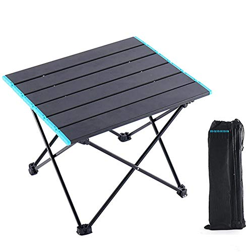 presentimer Outdoor Klapptisch Mini Tragbare Licht Aluminium Tisch Wandern Camping Grill Platz Tisch Für Hofgarten Wohnzimmer Outdoor Schwarz Geometrische Stativ