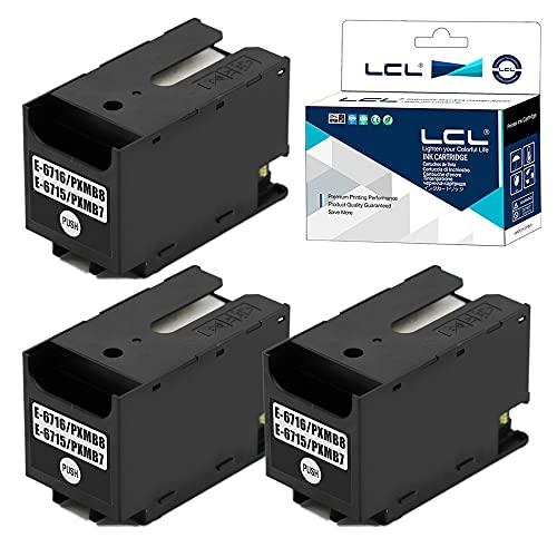 LCLT6715 C13T671500Scatola di manutenzione Compatibile con EpsonWorkForce Pro WF-4720DWF WF-4725DWF WF-4730DTWF WF-4730DWF WF-4740DTWF WF-4740DWF(2-PackNero)