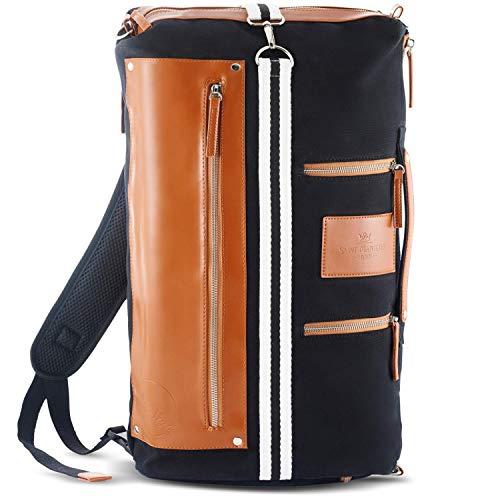 Saint Maniero Rucksack Damen Rucksack Herren Schulrucksack Mädchen Schulrucksack Jungen Laptop Backpack Tagesrucksack Daypack Laptoprucksack Uni Rucksack Uni Tasche Schultaschen (Schwarz)