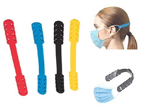Salvaorejas, Superpack 8 Piezas, Extensor para mascarillas, Salvaorejas de silicona, Sujeta mascarillas para protección de Orejas,