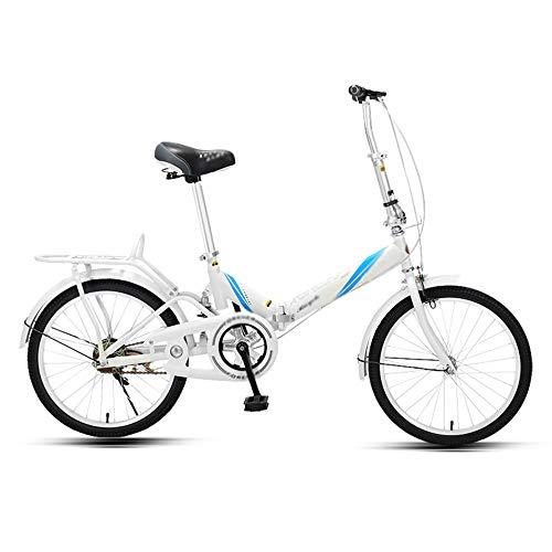 Bicicleta, Bicicleta de CercaníAs PortáTil de 20 Pulgadas, Bicicleta Recreativa Urbana, Marco Plegable de Poca Envergadura, Asiento Ajustable, Que Pueden Usar Tanto Hombres Como Mujeres/C