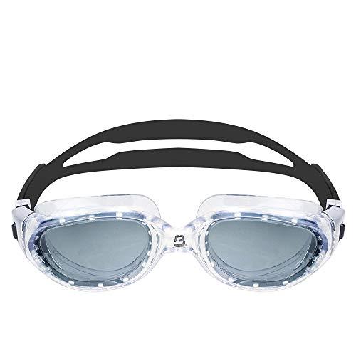 Barracuda Occhialini da Nuoto MANTA - Extra Large, Acque Libere, Protezione UV Antiappannamento, Montatura Monoblocco, Impermeabile, per Adulti (13520) (FUMO/CHIARA)