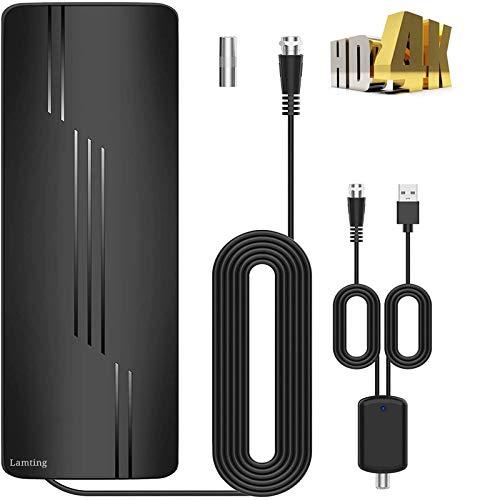 Aggiornata 2021 Antenna Interna Intelligente di Segnale Raggio 320KM Antenna HDTV Digitale DTT DVB-T DVB-T2, Canali 1080P 4K Amplificatore con 10M Cavo Coassiale