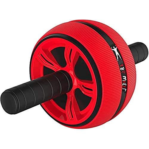 FFitnes FFITNESS ABS Wheel with Mat, Ruota Grande Antiscivolo per Addominali Unisex Adulto, Bianco Rosso, Unica