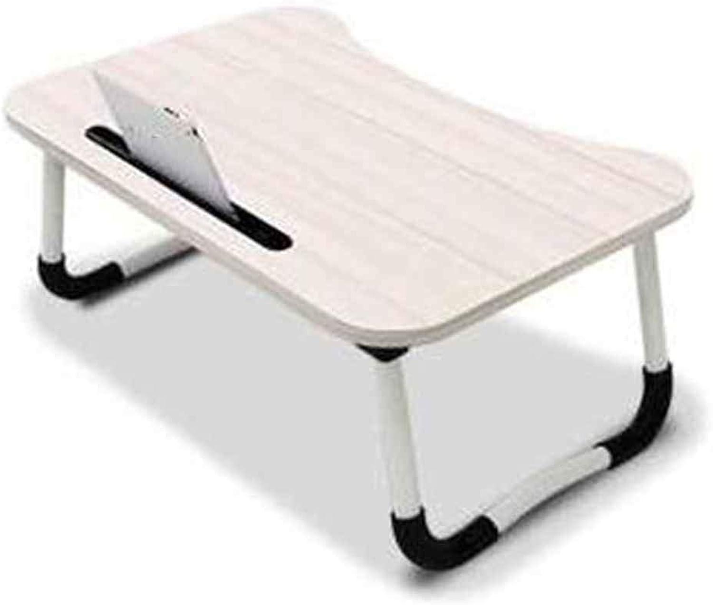 Computer Desk Simple Desk Reinforce Bed Small Table Simple Foldable Computer Desk (color   White)