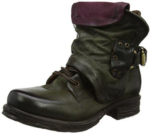 A.S.98 Damen Saintec Biker Boots, Grün (Jungle/Chianti), 39 EU
