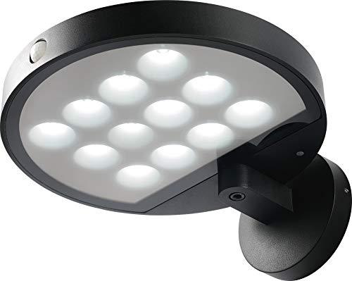 Voltman VOM069216 VOM69216 - Aplique solar (600 Lm-6500 K-IP44), color negro
