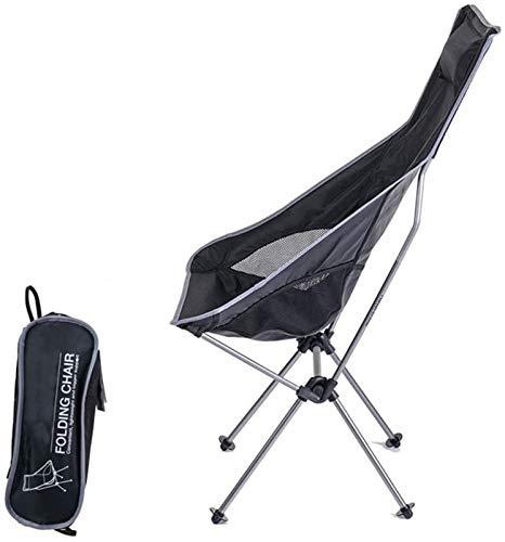 Mesa de picnic al aire libre Camping plegable Silla trasera alta, soporte de aleación de aluminio y tela de Oxford 600D, liviana y compacta con reposacabezas, adecuado para picnic de viajes al aire li