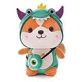 PNku Changing into Squirrel Plush Toy Cartoon Dinosaur elk Unicorn Doll Children's Doll 65