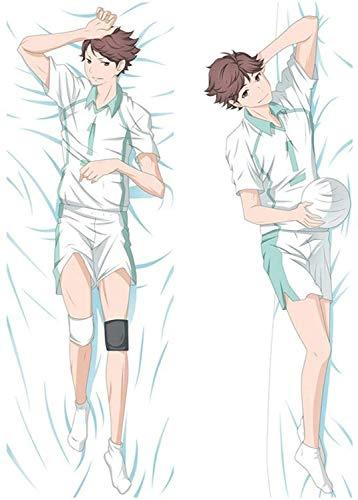 Promini Dakimakura, Haikyu, Cool Boy, Sexy Anime, Pillowcases Pillow, Case, 3D Double Sided Bedding Hugging Body Pillow Body Pillow Cover Pillowcases 20' x 60'
