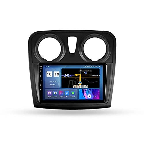 Android 10.0 Car Stereo Double DIN Radio para R-enault Logan 2/SANDERO 2 2012-2019 Navegación GPS Reproductor Multimedia de 9 '' Receptor de Video Bluetooth con 4G WiFi SWC DSP USB Carplay