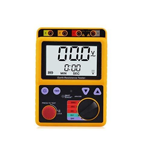 DXX-HR Medidor digital de resistencia al suelo de tierra rango 0-2000 Ohm 2/3Líneas AR4105B Medición