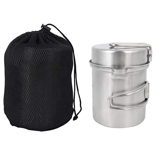 DAUERHAFT Juego Simple de Utensilios de Cocina de Almacenamiento de pote para Acampar al Aire Libre, para Acampar y Caminar