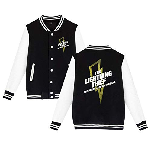 The Lightning Thief The Percy Jackson Musical Men's Women's Plus Velvet Fashion Baseball Uniform Jacket Sports Jacket Black