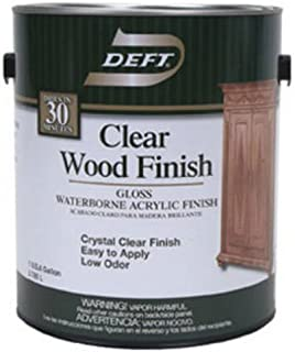 DEFT/PPG ARCHITECTURAL FIN DFT010/01 Gallon Clear Gloss Wood Finish, Dries Crystal Clear In 30 min