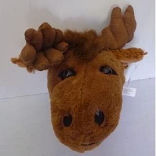 Wall Mountable Moose Head - Plush Moose Stuffed Animal - 11