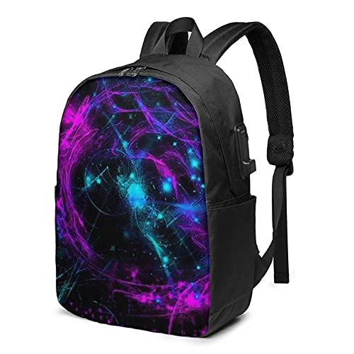 XCNGG Neon Style Travel Laptop Rucksack, Rucksack mit USB-Ladeanschluss, für Männer Frauen Passend für 17 Zoll