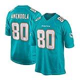Maillot De Football Américain,80# Danny Amendola Miami Dolphins Brodé Respirant Maillots De Football T-Shirts Sportswear Fitness Cadeau d'anniversaire pour Homme-S