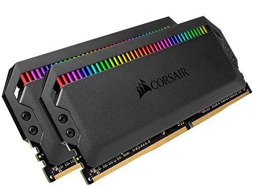 Kit di memoria desktop CORSAIR DOMINATOR PLATINUM RGB 16GB (2x8GB) DDR4 3200 (PC4-28800) C16 1.35V ottimizzata per AMD, Nero