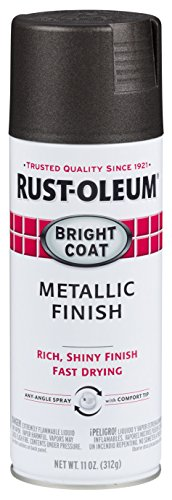 Rust-Oleum Stops Rust Bright Coat Spray 7713830-6 PK Color, 11 Oz, 6 Pack, Metallic Dark Bronze