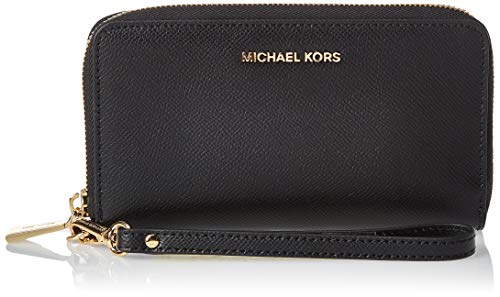 Michael Kors Damen Jet Set Travel Large Smartphone Geldbörse, Schwarz (Black), 16x10x1 cm