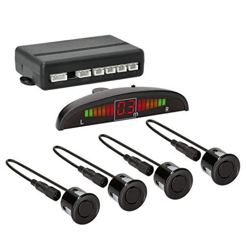 VSG24 22126 – Premium Einparkhilfe im Set, Farb Display & Akustisches Signal, Park System inkl. 4 Sensoren, Automatisch, Vorne - Schwarz