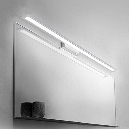 BiuTeFang 18W LED Spiegelleuchte Spiegellampe Wasserdicht Aluminium Badleuchte Badlampen Wandlampe IP44 Spiegel Lichter Kaltweiß 90CM AC90-240V