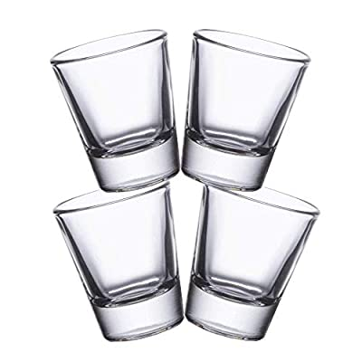 Gmark 1.5-Ounce Heavy Base Shot Glass Set, Whiskey Shot Glass 4-Pack GM2011A
