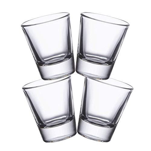 Gmark 1.5-Ounce Heavy Base Shot Glass Set, Whiskey Shot Glass 4-Pack GM2011A