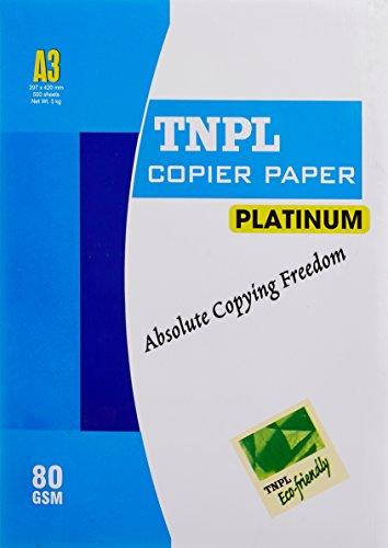 TNPL Copier Platinum - A3, 80 GSM, 500 Sheets, 1 Ream