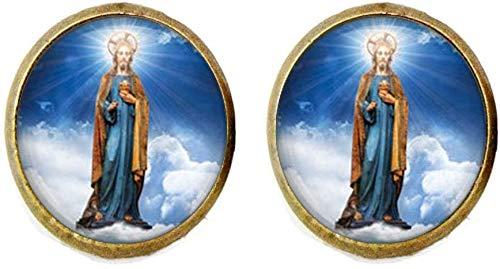 Religious Cufflink Christian Jewelry Spiritual Gift Healing Charm Prayer Gift Catholic Jewelry Inspirational Gift
