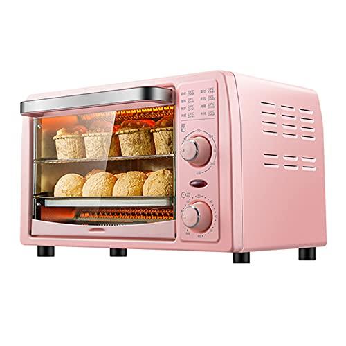 DKBE Horno eléctrico, con Control de Calor Superior e Inferior, Mini Mini Máquina para Hornear Máquina Hogar Pizza Fruta Barbacoa Tostadora Horno