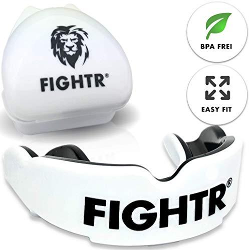FIGHTR Premium Mundschutz | max.Sauerstoff und Sicherheit + Easy fit | BPA freier Zahnschutz inkl. Box | Boxen, MMA, Muay Thai …