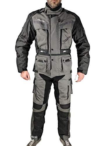 WinNet Completo tuta moto in cordura giacca e pantaloni per turismo viaggio (2XL)