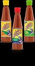 Set of 3: Gourmet Salsa Huichol Hot Sauce, with Lime & Habanera Roja, 6.5 oz bottles