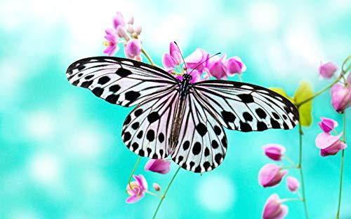 Rompecabezas 1000 Piezas Adultos Madera Puzzle Mariposa Gris En Flor Niños Juguetes Educativos Para Moderna Para El Hogar Decoración Regalo Único