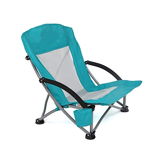 Low Beach Mixte Green Yello Chaise de Plage Pliante Basse