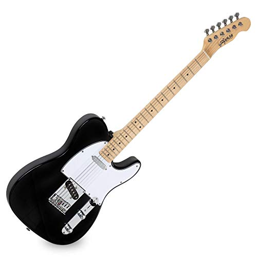 Shaman Element Series TCX-100B - E-Gitarre in TL-Bauweise - geölter Hals aus Ahorn - Ahorn-Griffbrett - schwarz