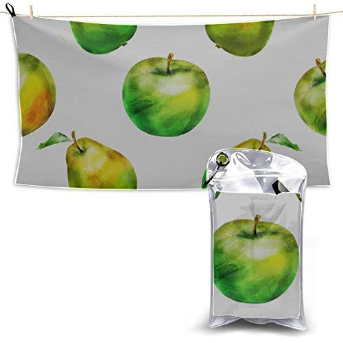 Toallas Beach Towels Shower Towels Toallas de manzana de frutas de moda verde agridulce divertidas en deportes Bathroom Towels 160X80CM