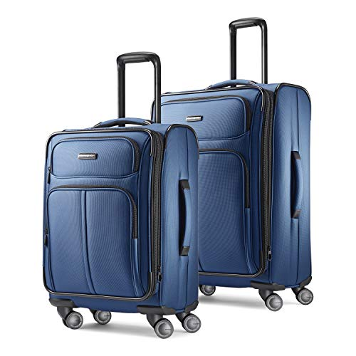 Samsonite Leverage LTE Softside Expandable Luggage with Spinner Wheels, Poseidon Blue, 2-Piece Set (20/25)