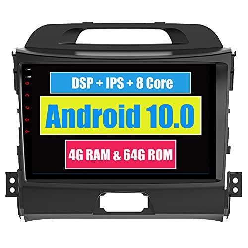 Roverone 9 Pollici Android System Octa Core autoradio autoradio GPS per KIA Sportage R 2011-2016 con navigazione radio stereo Bluetooth specchio Link Full touch screen