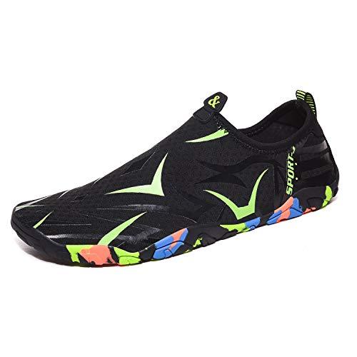 Parcclle Escarpines de baño, zapatos de agua, zapatos de natación para hombre y mujer, zapatos de playa, zapatos de surf, de secado rápido, zapatos descalzos para caminar, yoga, playa y barco.