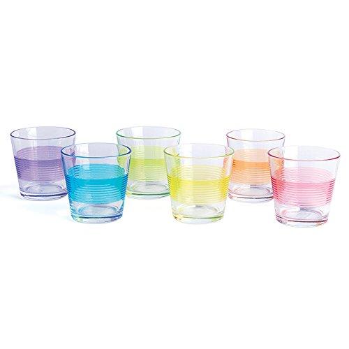 Excelsa Valencia waterglazen, 0,29 l, glas, meerkleurig, 6 stuks