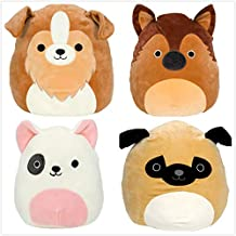 "Squishmallow Kellytoy 2020 Set of 4 Mini 5"" Dogs Squad Collection Plush Doll"